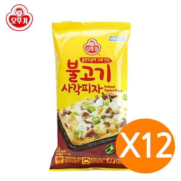 오뚜기 불고기 사각 피자 x12개 냉동식품 즉석식품, 12개