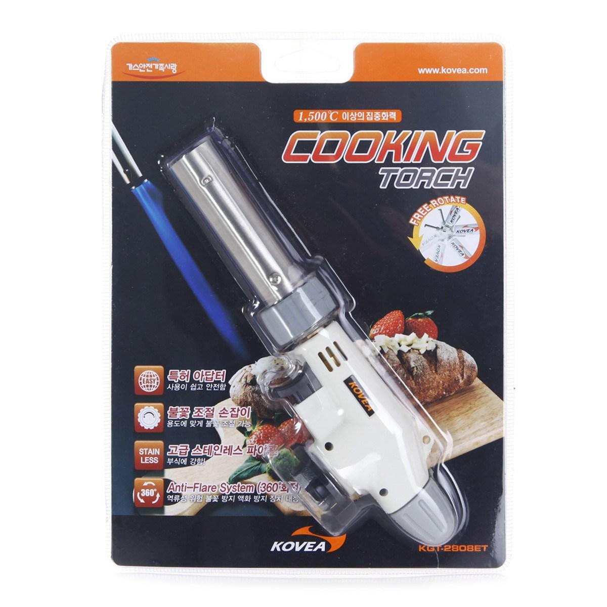 코베아 쿠킹 토치 KGT-2808ET 캠핑 및 요리용 가스 점화기, 혼합, 1개