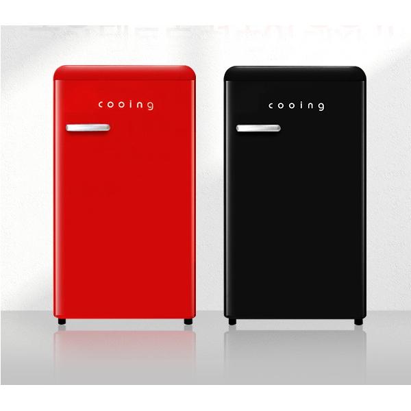 쿠잉 냉장고 레드 블랙 소형 미니 원도어 컴팩트, 02.REF-S92BK 블랙