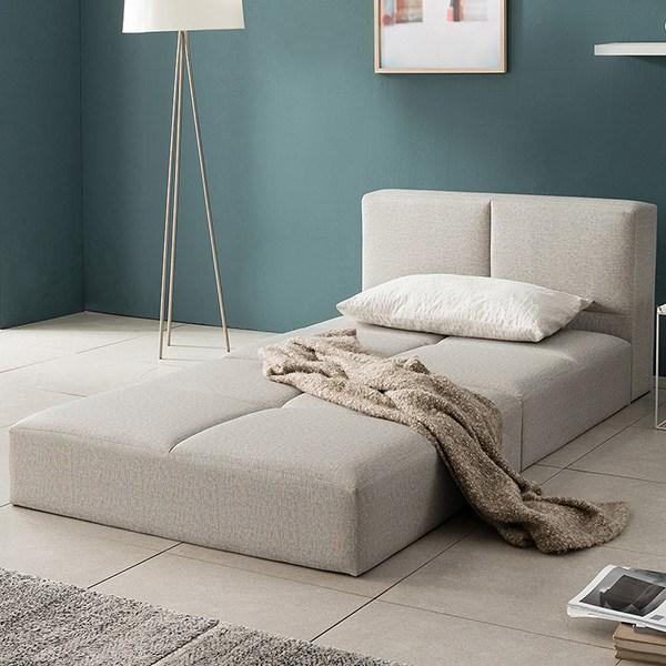 아씨방가구 미쉘 가죽 평상형 슈퍼싱글 침대프레임, 단일상품