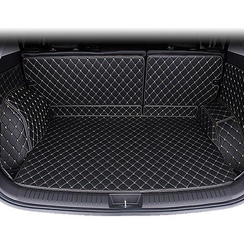 신형 쏘렌토 MQ4 (4세대)전용 풀커버 가죽자수 트렁크매트 차박매트 자동차용품, 쏘렌토(6인승)블랙