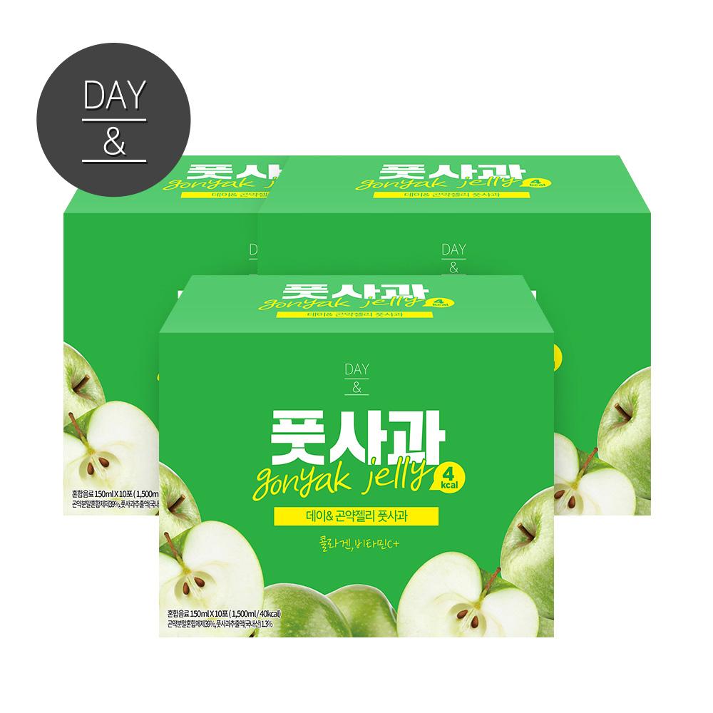 참앤들황토농원 황토농원 데이앤 곤약젤리 풋사과 냉장젤리, 150ml, 30팩