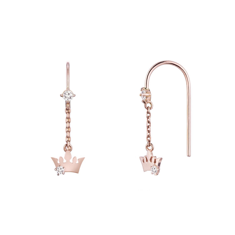 제이에스티나 여성용 Basic Tiara 귀걸이 JJT1EQ8AS033R4000