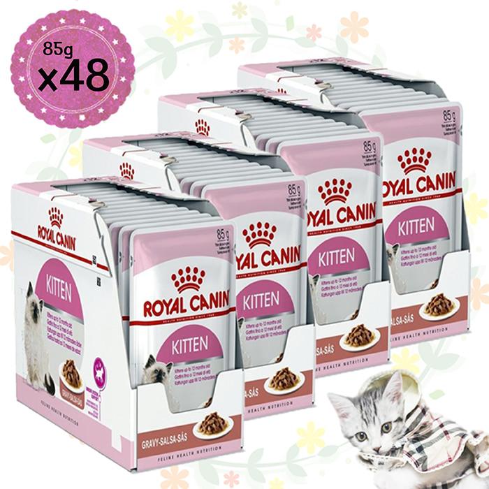 로얄캐닌 고양이 습식사료 파우치 키튼 85g (48개)