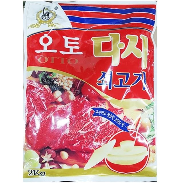 Bw식품군 농수산물 축산물_다시(쇠고기 오토 2K)X6_도매 식자재 먹거리 선물용품, 본상품선택