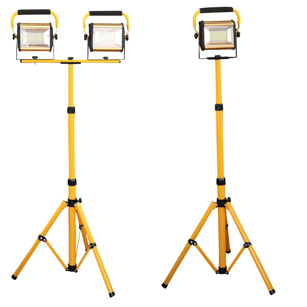 100W 충전식 LED 투광기 스탠드 포함 작업등 거치대 삼각대 WW808, 100W투광기1개+삼각대1개, 1개