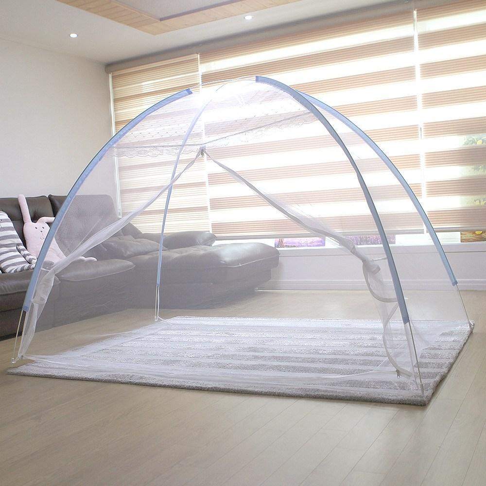 캠프21 침대용 모기장 1-2인용_단문형, 화이트