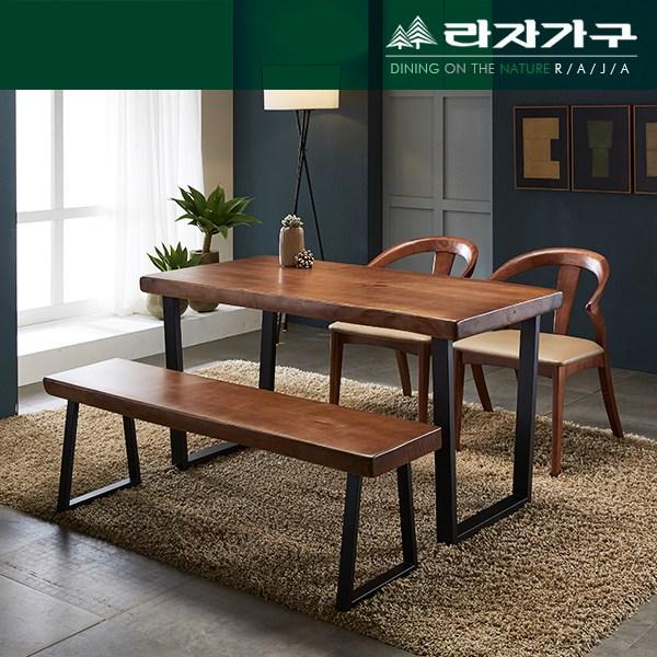 라자가구 뉴송 우드슬랩 원목 식탁 테이블 1600, 단일상품
