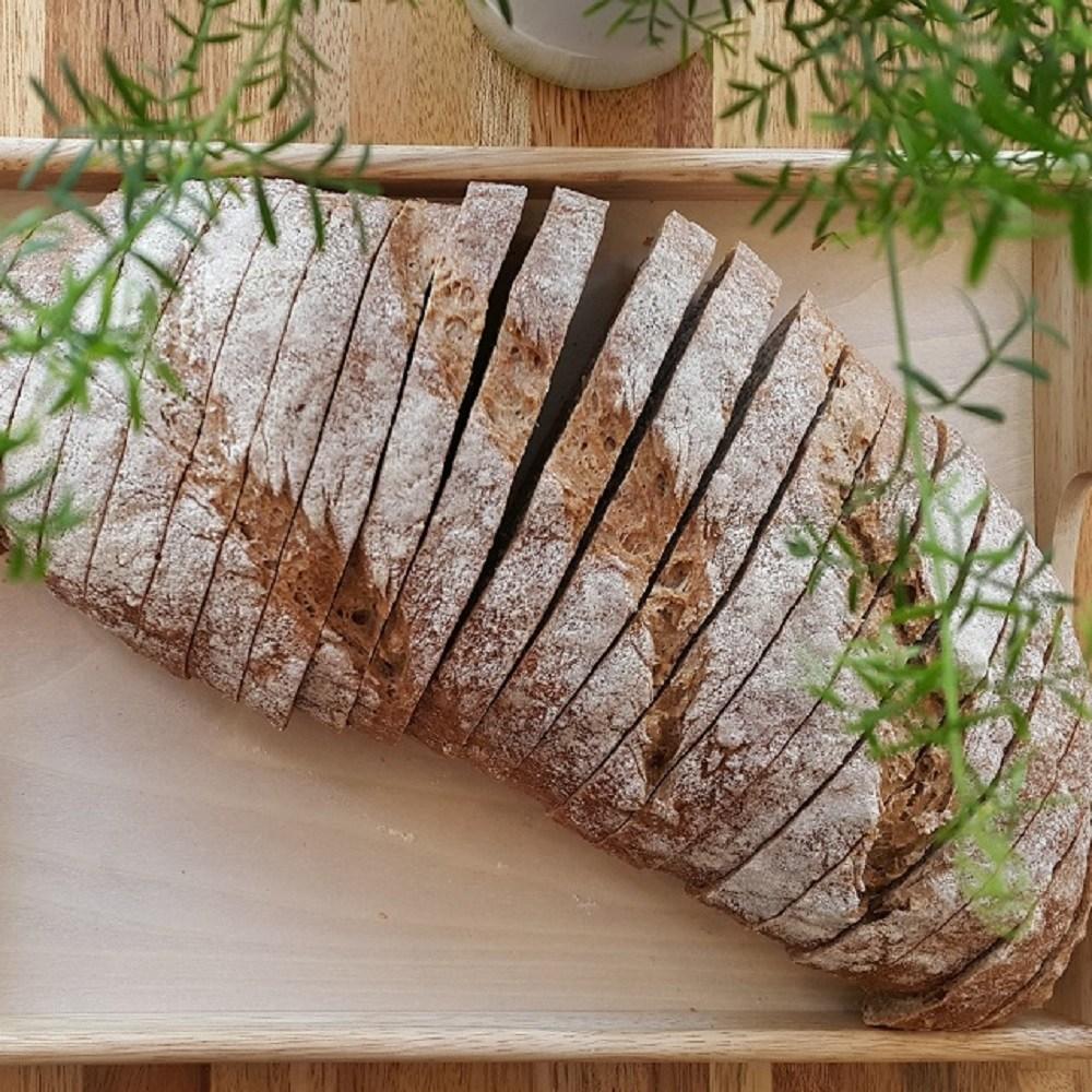 [더브레드천연발효빵] 유기농 100%통밀빵_플레인(No충전물) 장발장1kg(NO충전물플레인빵 운동빵 통밀식빵 비건빵 샌드위치식빵), 1개