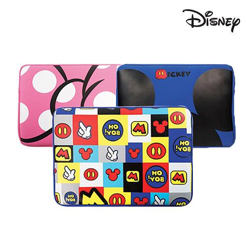 디즈니 노트북 파우치, 블루, 13in