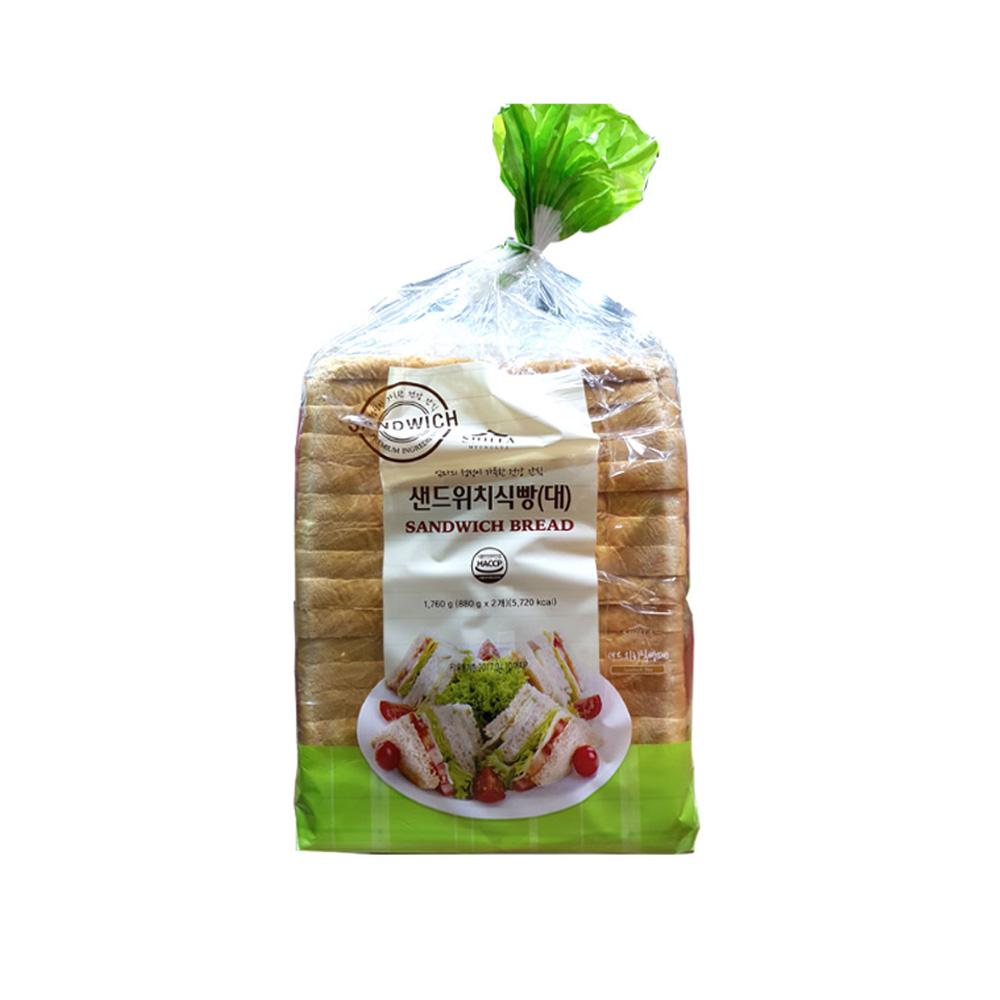 (코스트코) 신라명과 샌드위치 식빵 (대) 880g X 2, 1세트