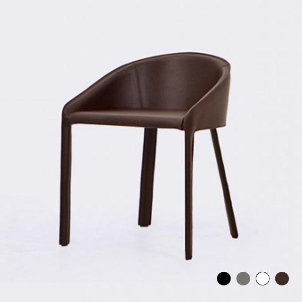 로이퍼니처랩 브리스 원형 등받이 가죽 1인 의자, 블랙