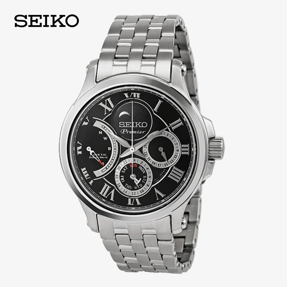 세이코 프리미어 남성 브랜드 메탈 손목 시계