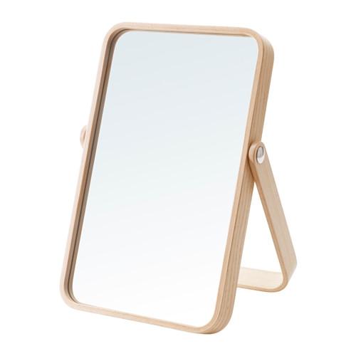이케아 화장대 거울 화장실 책상거울 큰사이즈, 물푸레나무 803.069.21