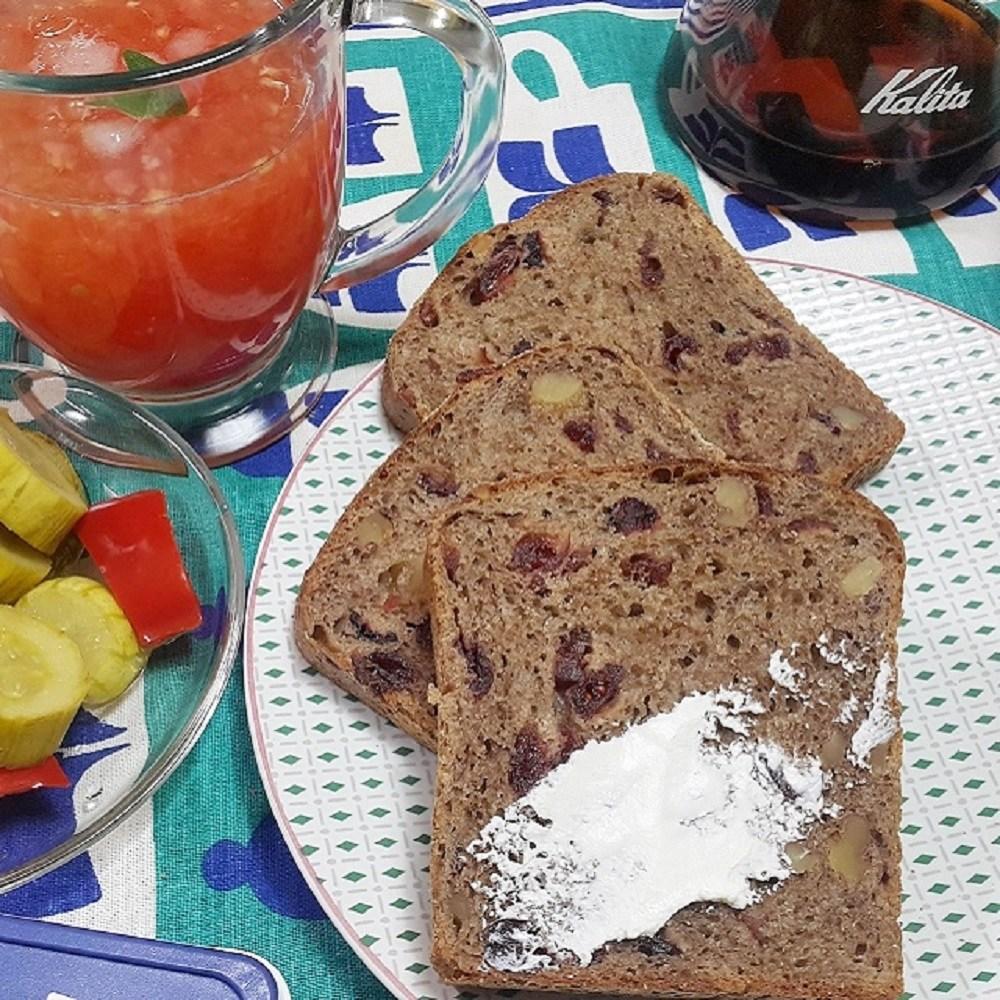 [더브레드천연발효빵] 유기농100%통밀빵_크랜베리 샌드위치빵 770g*2팩(통밀식빵 비건빵 무설탕빵 크랜베리빵 건강빵 호밀빵), 2팩
