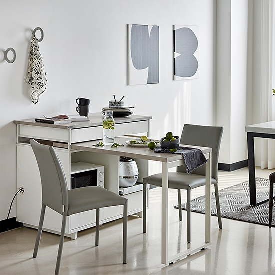 한샘 베리 라이트 아일랜드 식탁 테이블형, B형:메이플(B)