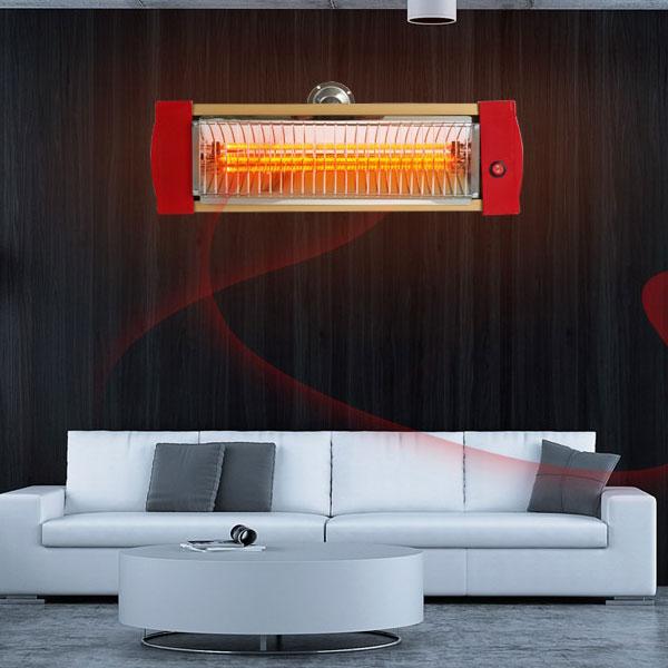 국산 벽걸이히터 1KW 원적외선 나노 카본 전기히터 화재없는 알루미늄외장, 레드, 따사로비원