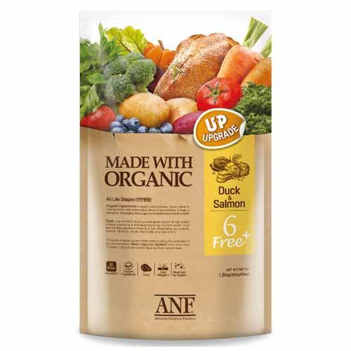 ANF 유기농 6Free 플러스 오리 강아지 사료, 5.6kg, 1개