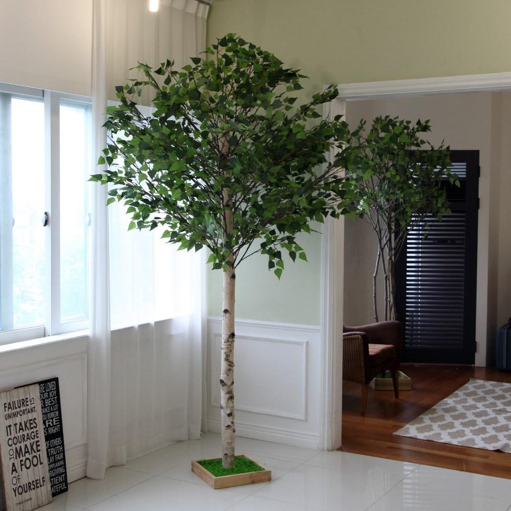 조아트 자작나무 인조나무 벚꽃나무 실내조경, 1개, 자작나무 사방형 240cm