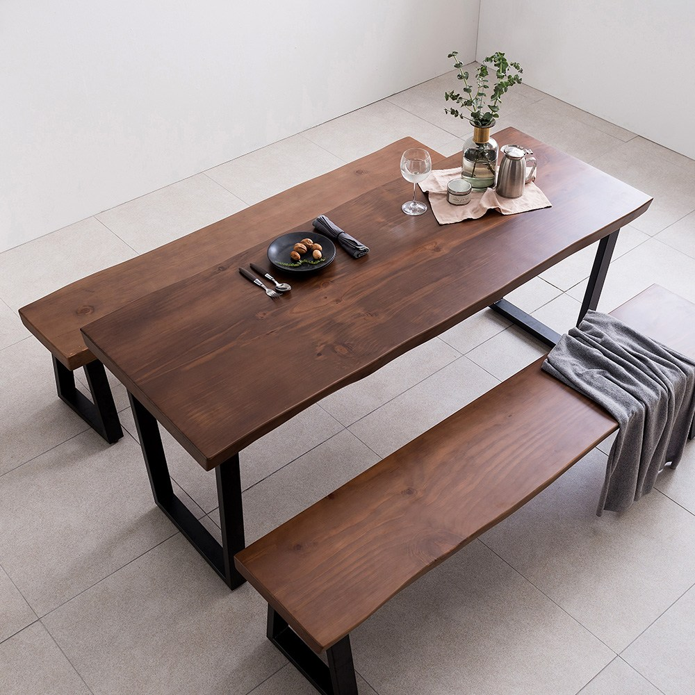 아씨방가구 뉴송 우드슬랩 식탁테이블 1800