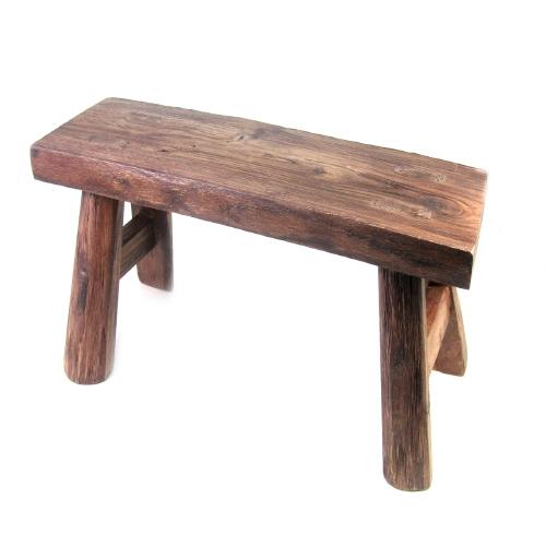 긴의자형 원목 장식대 (중) 원목의자 나무의자 스툴 수반받침 화분받침, 나무원목