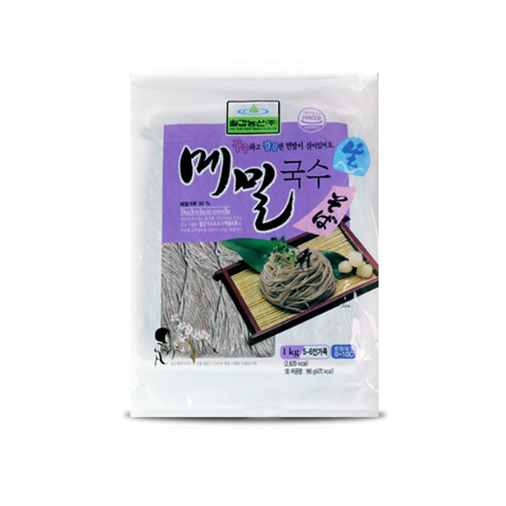 칠갑농산 생메밀국수 1kg (약6인분) X 10개입 BOX, 10개