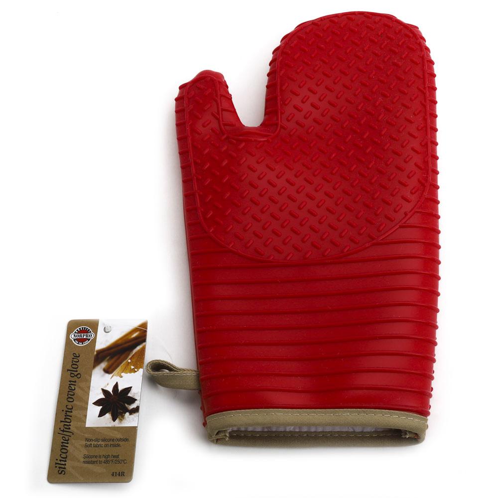 노르프로 실리콘 패브릭 글러브 오븐장갑 32 x 15 x 0.6cm, Red, 1개