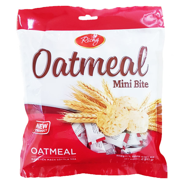 오트밀 미니바이트 250g 약 100개 낱개포장 대용량 과자, 1개