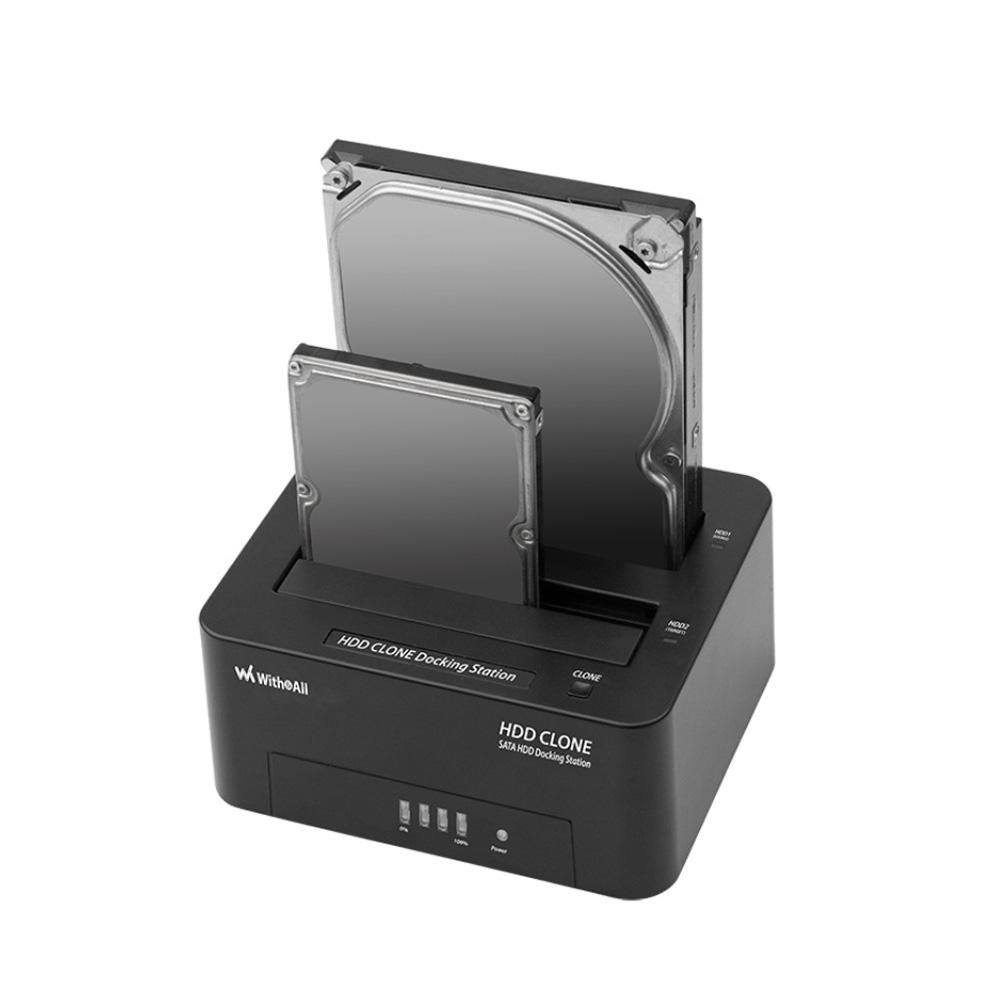 위드앤올 2베이 도킹스테이션 WNA-600DOCK 16TB지원 클론복제기능