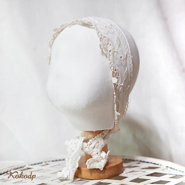 코코디피 1세 유아 아동 아기 모자걸이 두상마네킹 뽈따구 얼굴 머리 마네킨 마네킹, 원단-기본흰색/발판-나무색