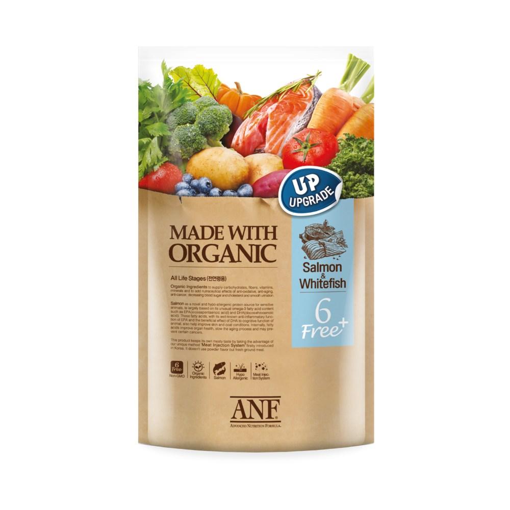 ANF 유기농 6free 플러스 연어 강아지 사료, 1.8kg, 1개