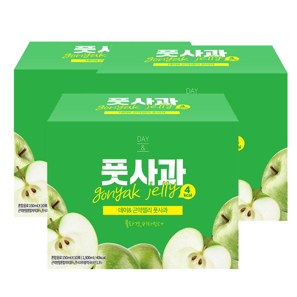 푸르담 4kcal 곤약젤리 풋사과, 30팩, 150ml