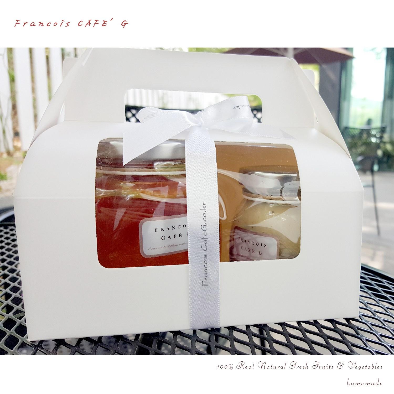 프랑수아카페G 과일청 수제청 300g 수제잼 175g 선물세트, 1개, 과일청 수제잼 세트