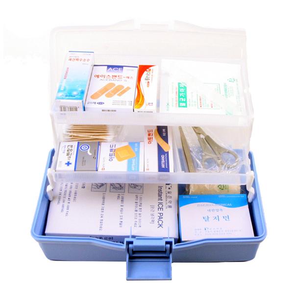 일진약품 구급함 5호 VIP 약품상자 세트 의약품통 약통 비상 셋트 응급함 약상자, 1개 (POP 109242286)