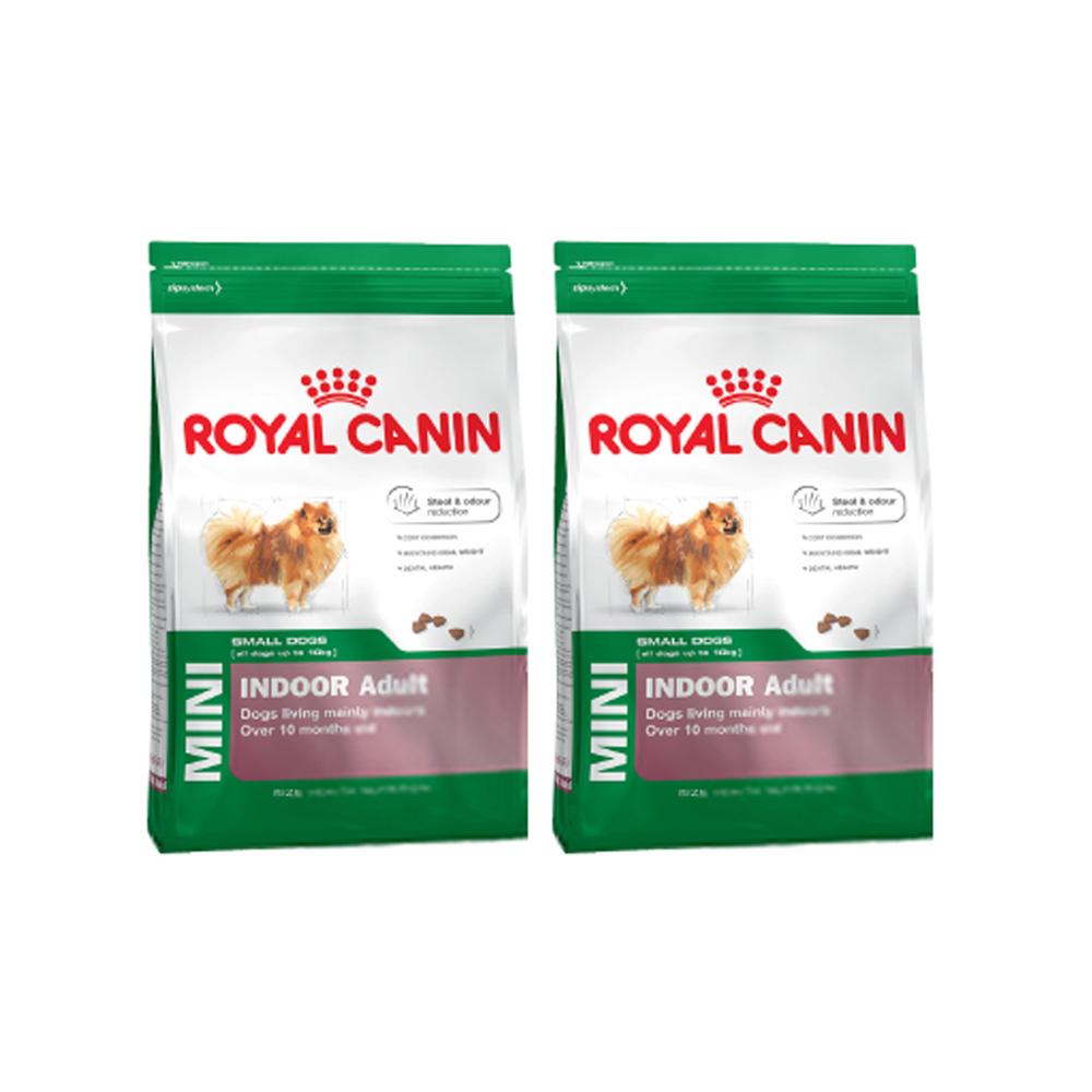 로얄캐닌 일반사료 인도어 어덜트 애견 사료, 1.5kg, 2개