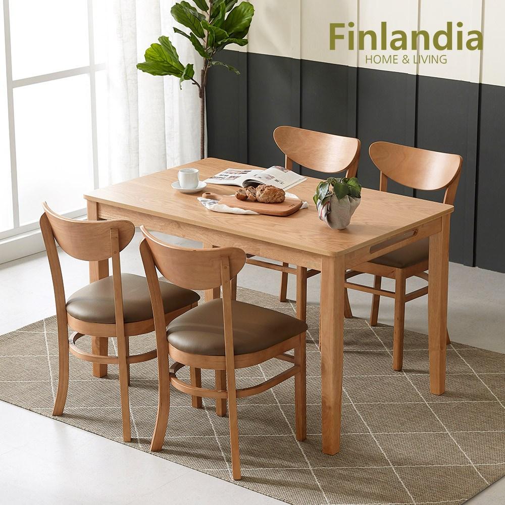 핀란디아 콜린 4인식탁세트(의자4) 식탁세트, 단품