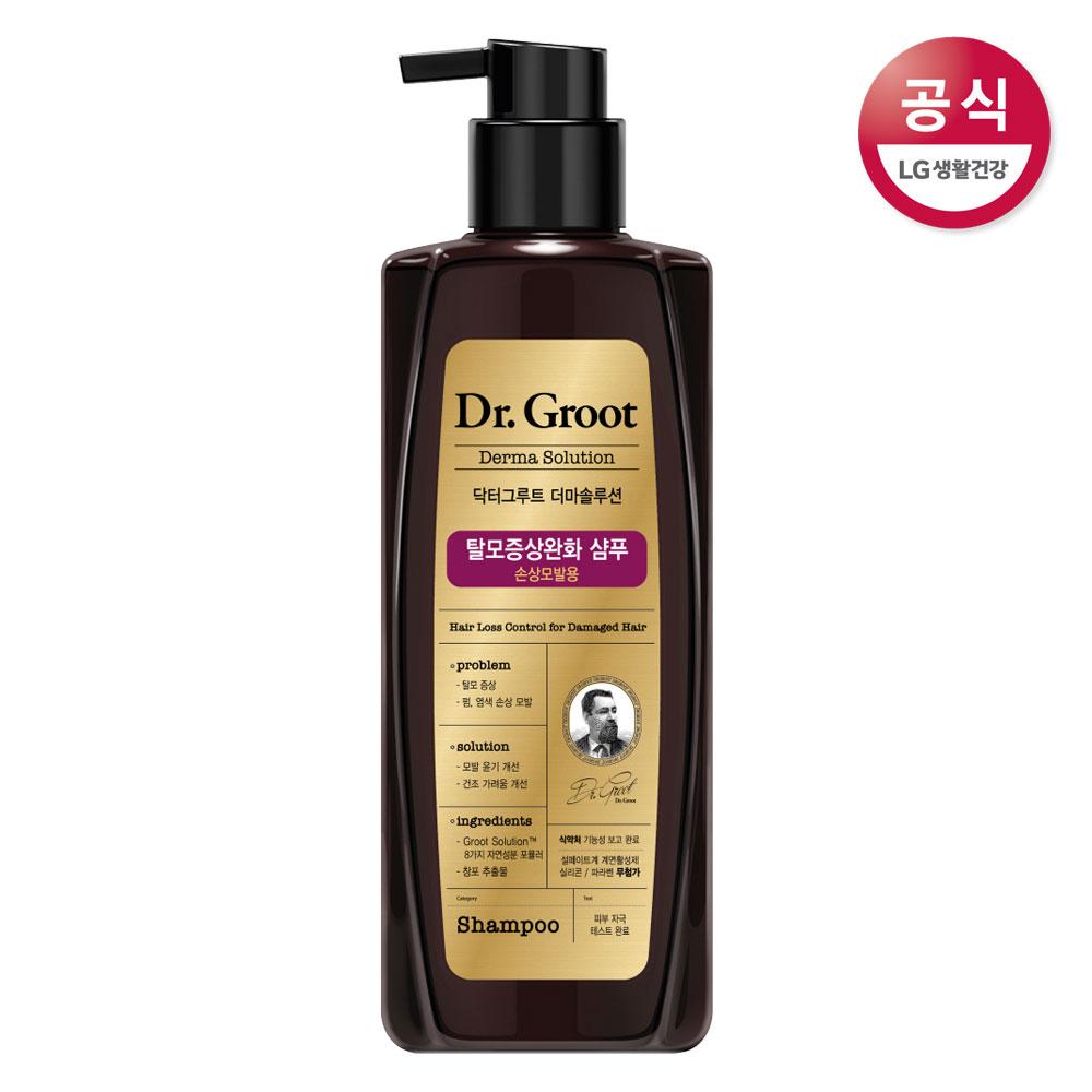 닥터그루트 손상모발용 탈모증상완화 샴푸 400ml, 단품