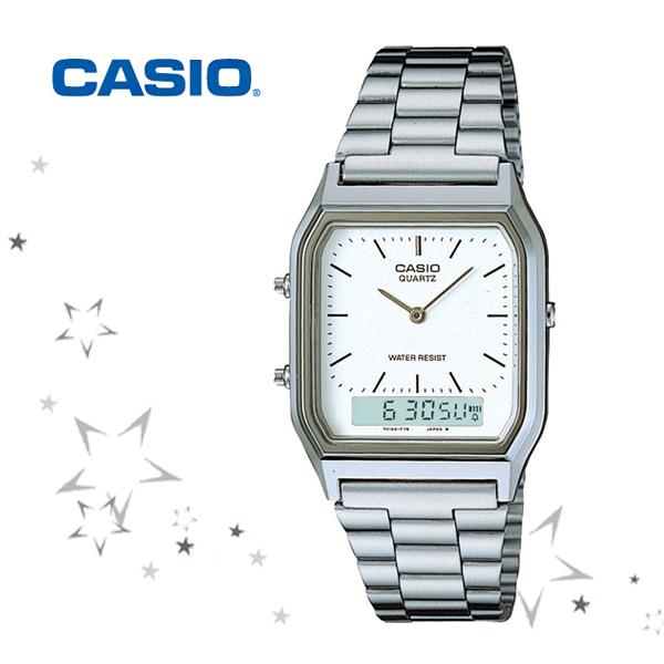 카시오 AQ-230A-7 CASIO 메탈 남녀공용 손목 시계