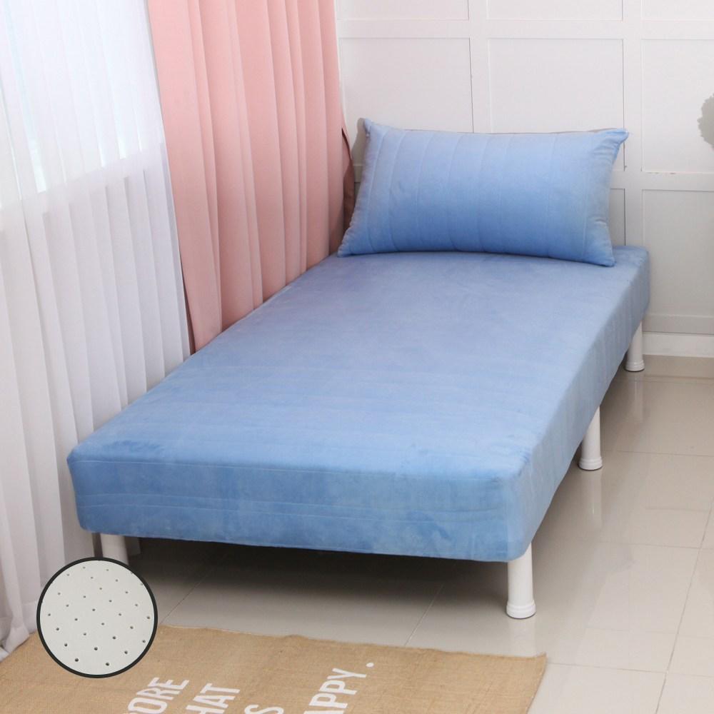 미코퍼니처 CL라텍스 단면 매트리스 침대, 블루