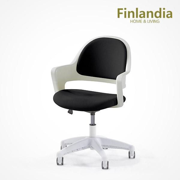 핀란디아 위즈 화이트 책상의자 학생의자/사무용의자, 블랙