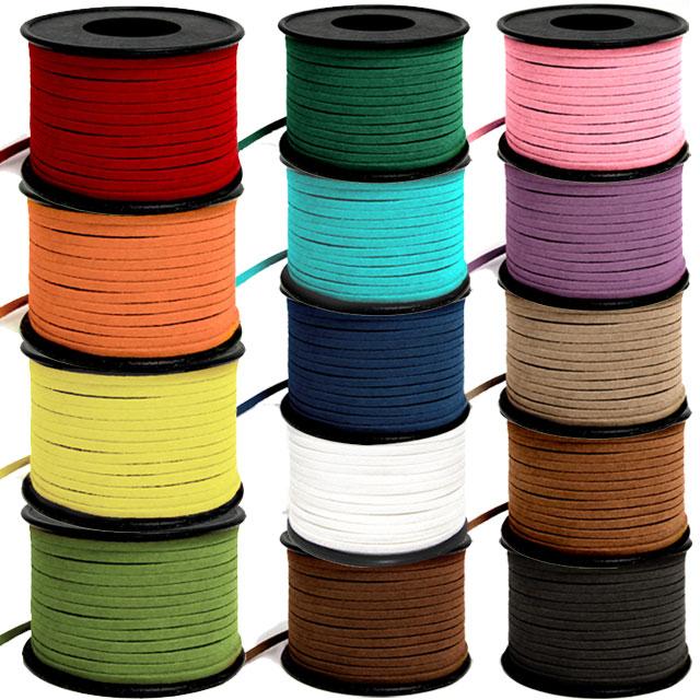 [유니아트] 롤샤무드끈(18M) 색상선택 - 인조가죽끈 쎄무끈 스웨이드끈, 주황, 1개