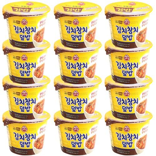 오뚜기 컵밥 김치참치덮밥, 280g, 12개