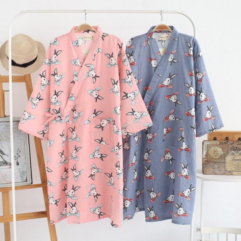 MISO 유카타 스타일 잠옷 샤워가운 실내수면가운 골프목욕가운