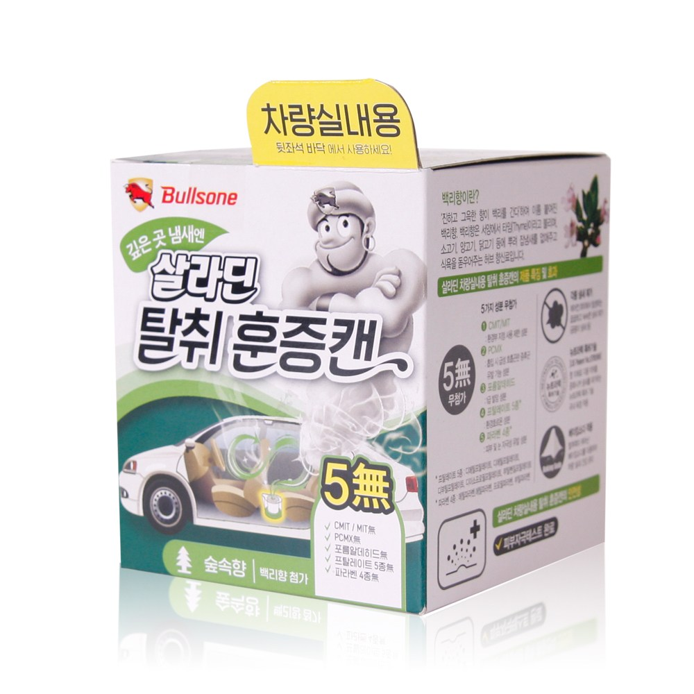 불스원 살라딘 탈취항균 훈증캔(숲속향), 1개