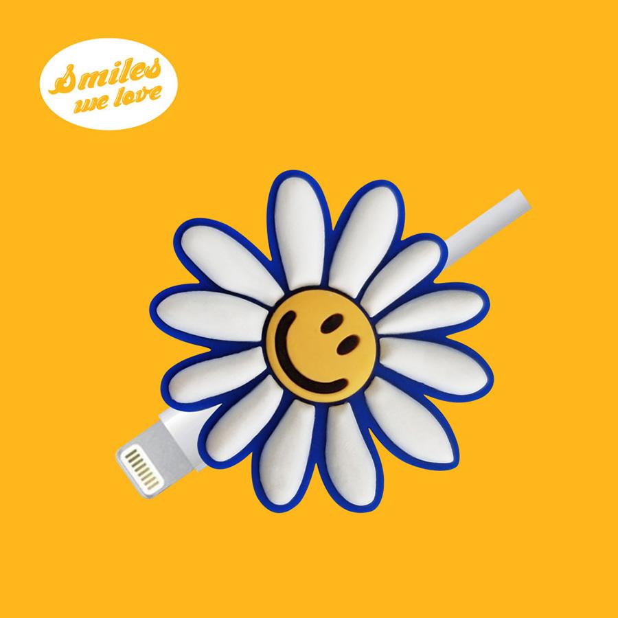 위글위글 Cable Protector 케이블 보호캡, Smiles We Love (PVCCAP-001), 1개