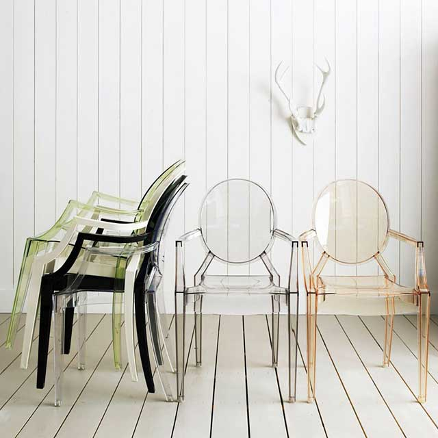 영가구 고스트체어 디자인의자, 유팔_투명