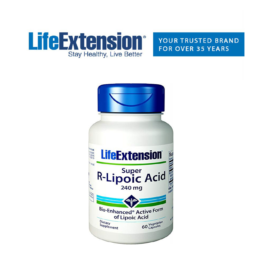 (해외) Life Extension 라이프익스텐션 슈퍼 R-알파리포산(알리포산) 240mg 60정, 1개