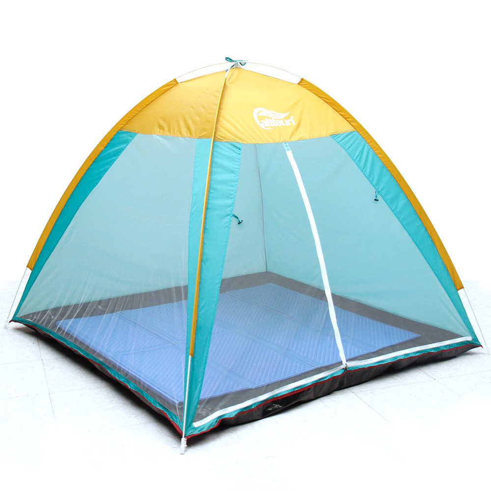 알뜨리 원터치 그늘막 팝업 자동 캠핑 돔 모기장 텐트, 민트(일반형), 중형(1~2인용)