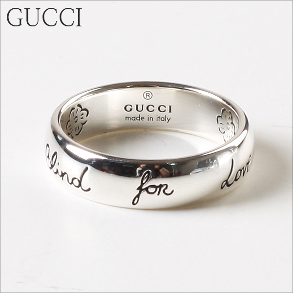 [GUCCI] 구찌반지 BLIND FOR LOVE 실버 5MM YBC455247001