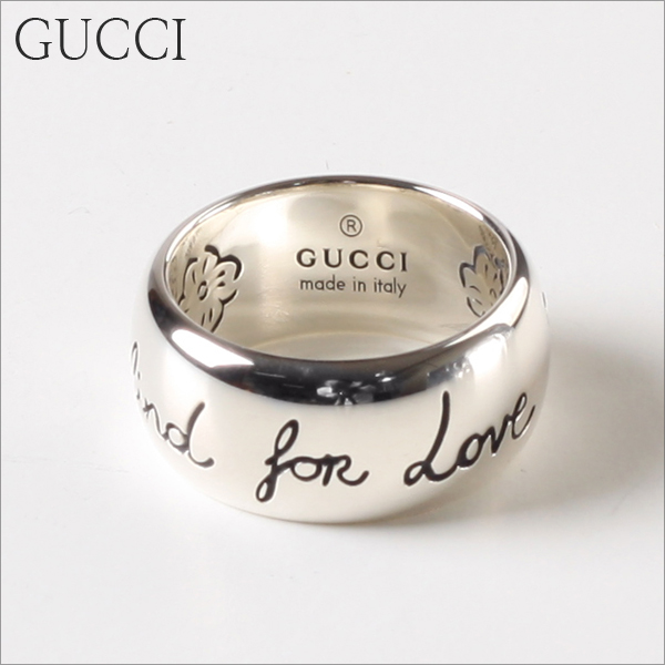 [GUCCI] 구찌반지 BLIND FOR LOVE 실버 9MM YBC455248001